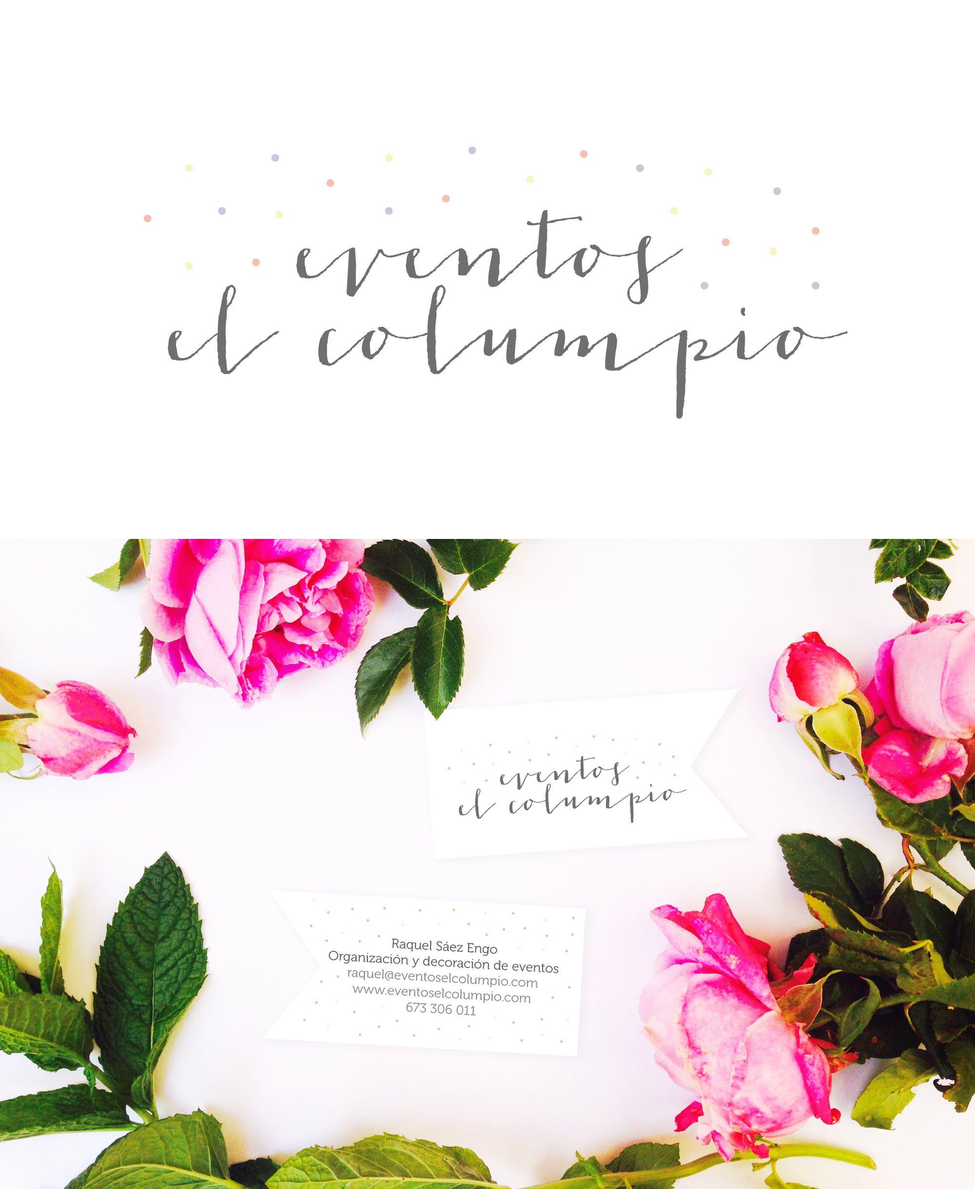 logo business card design for eventos el columpio by heartmade