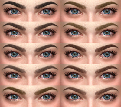 My Sims 4 Blog Eyebrows By Alfsi Eyebrows Sims The