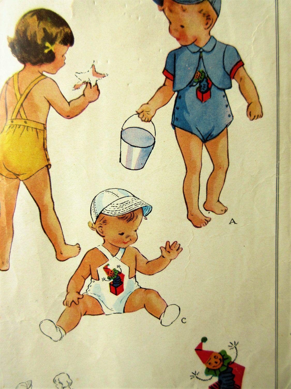 Fein Vintage Baby Nähmustern Galerie - Strickmuster-Ideen ...