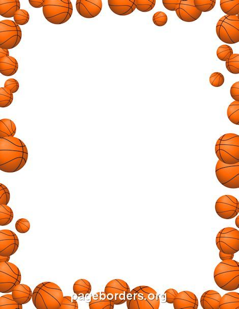 page border basketball - Αναζήτηση Google teaching Pinterest - certificate border word