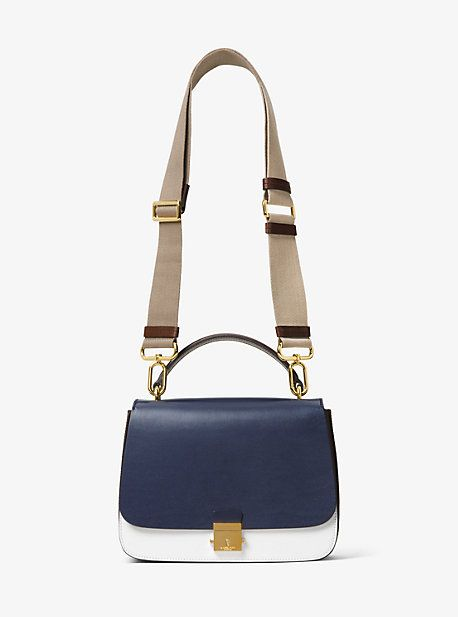 Mia French Calf Leather Shoulder Satchel
