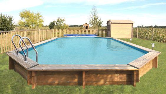 Holzpool Los Angeles oval 9,42 x 5,92 x 1,46 m #Pool #Garten