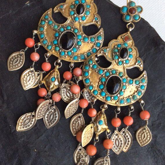 CarnelianBlack Agate Drop Earrings
