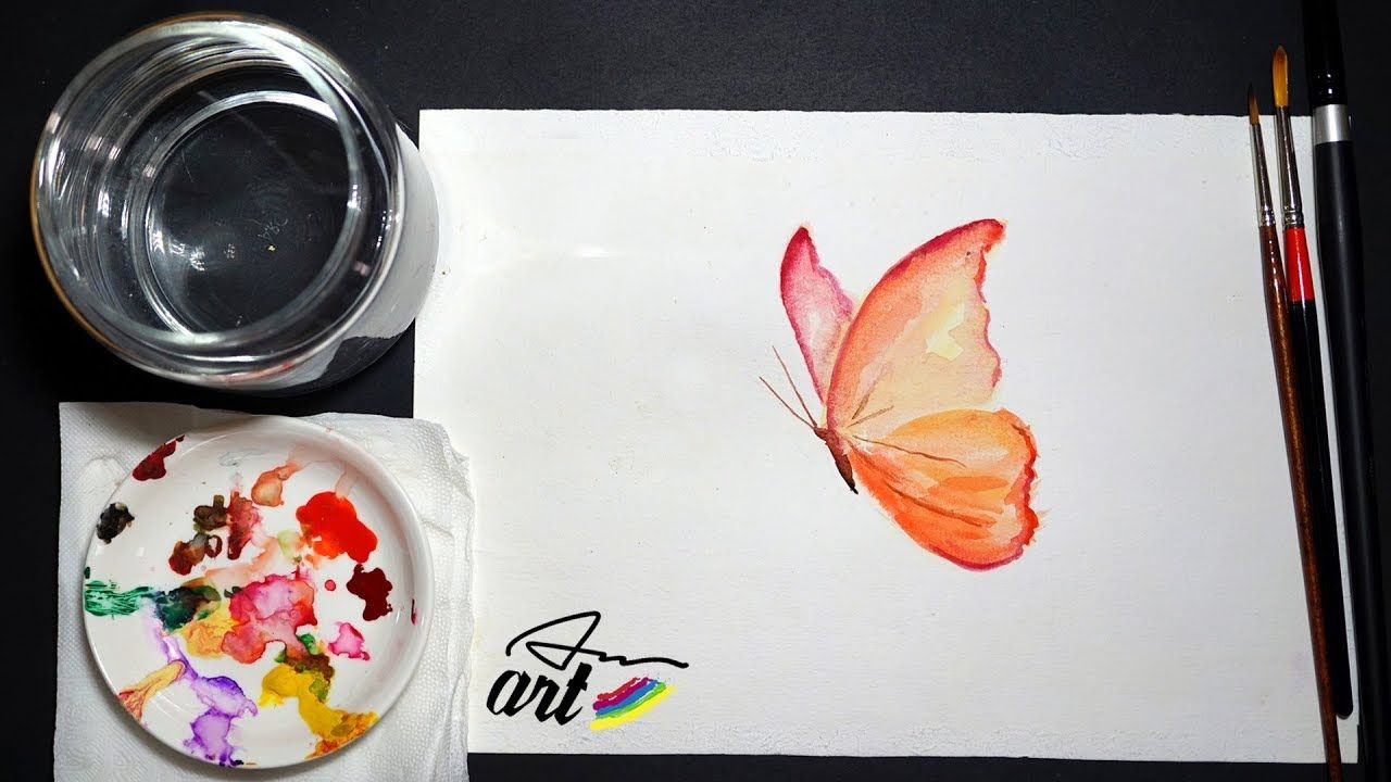 How To Paint A Butterfly Watercolor Tutorial For Beginners
