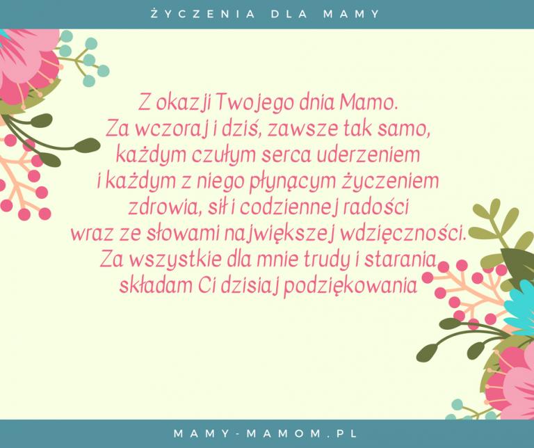 Życzenia dla Mamy - wierszyki na Dzień Mamy (With images ...