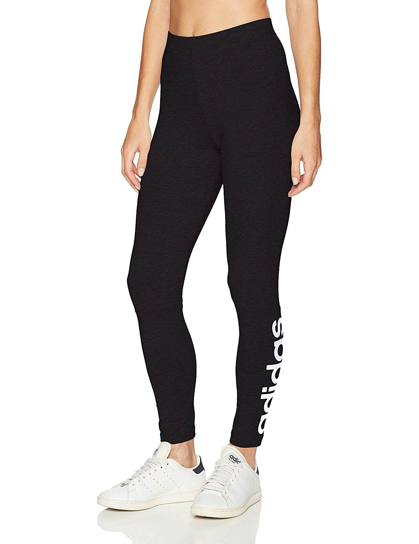 704e5453b689 Amazon.com  adidas Women s Athletics Essential Linear Tights  ADIDAS   Clothing