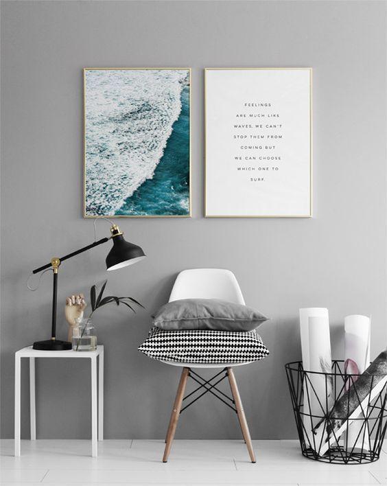 Feelings Poster Minimalistische Mobel Minimalistisch Wohnen Einrichtungsideen Schlafzimmer