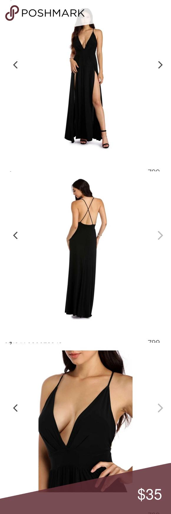 Backless Dress Long Black Dress Dresses Clothes Design [ 1740 x 580 Pixel ]