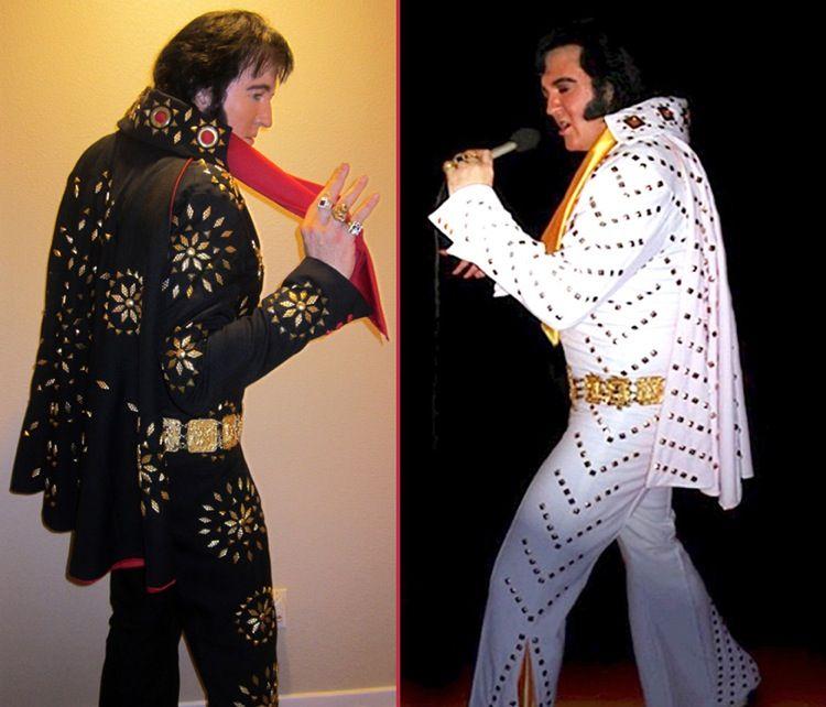 Elvis Presley Black Jumpsuit Costume Images