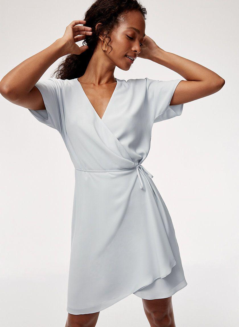 Wallace Dress Dresses Short Sleeve Mini Dress Wrap Dress [ 1147 x 840 Pixel ]