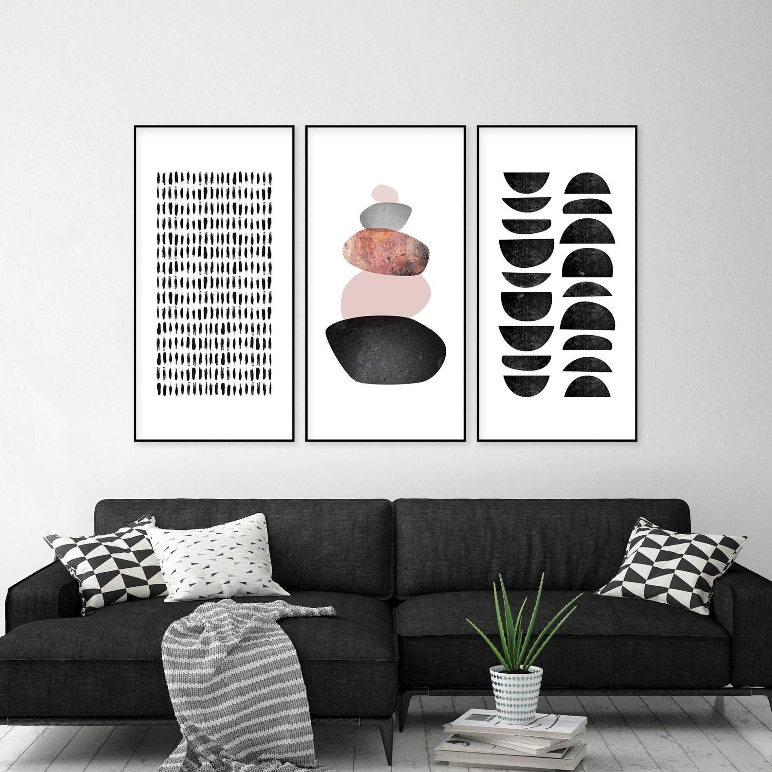 Black White Prints Downloadable Art Set Black White Art 3 Etsy Black And White Prints Downloadable Art Minimalist Prints