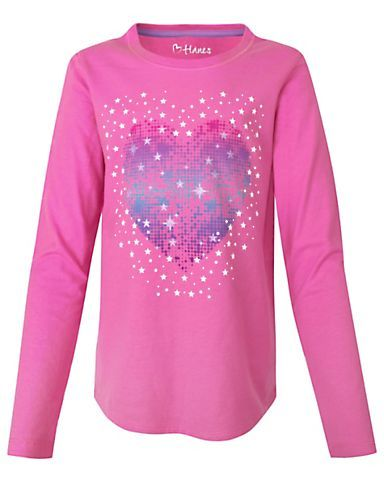 Hanes Girls' Long-Sleeve Tee with Graphic | 27954