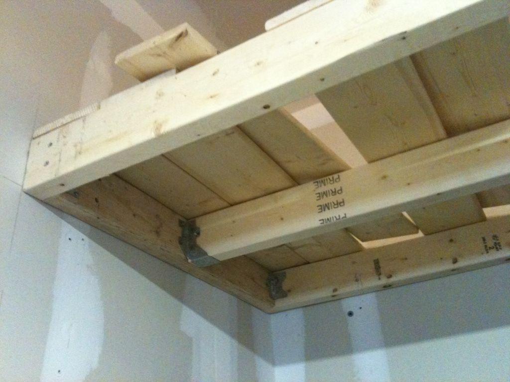 Diy heavy duty garage shelves garage storage shelves diy