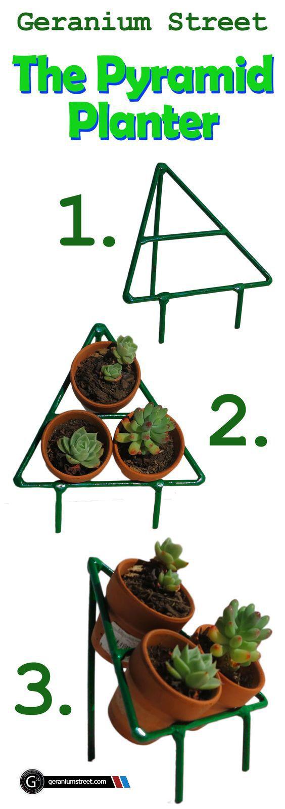 Pyramid planter succulent container ideas pinterest planters