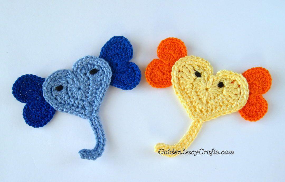 Crochet Elephant Applique, Free Crochet Pattern | Crochet