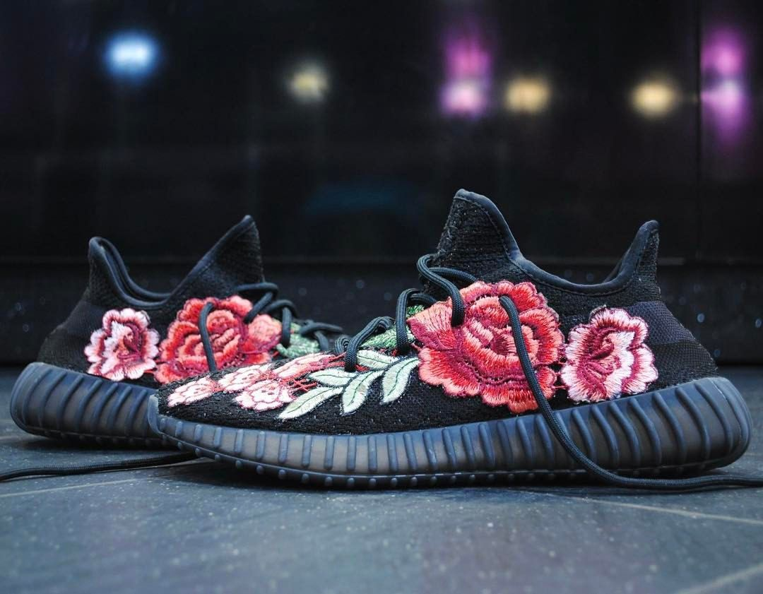 fedf7f7fd9f053 adidas Originals Yeezy 350 V2 Boost Floral Customs