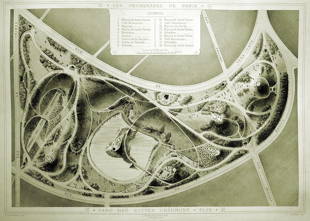 Parc des Buttes Chaumont Alphand 1867 - Parc des Buttes Chaumont ...