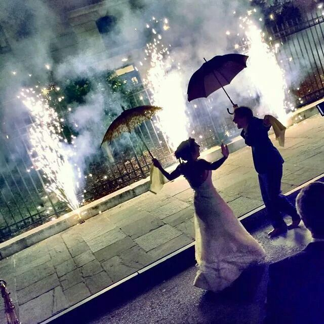 French Quarter Wedding Second Line with Fireworks. Awesome. Nothing like the NoLa.