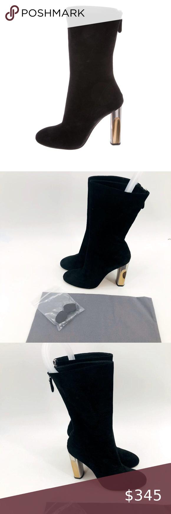 ALEXANDER MCQUEEN Sculpted Heel Boots 8