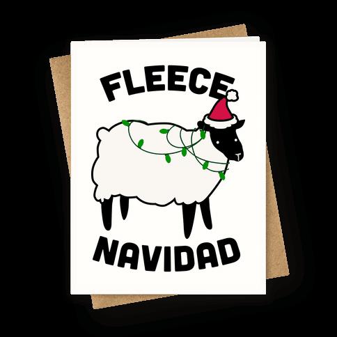 Fleece Navidad Greeting Card | LookHUMAN #christmasfunny