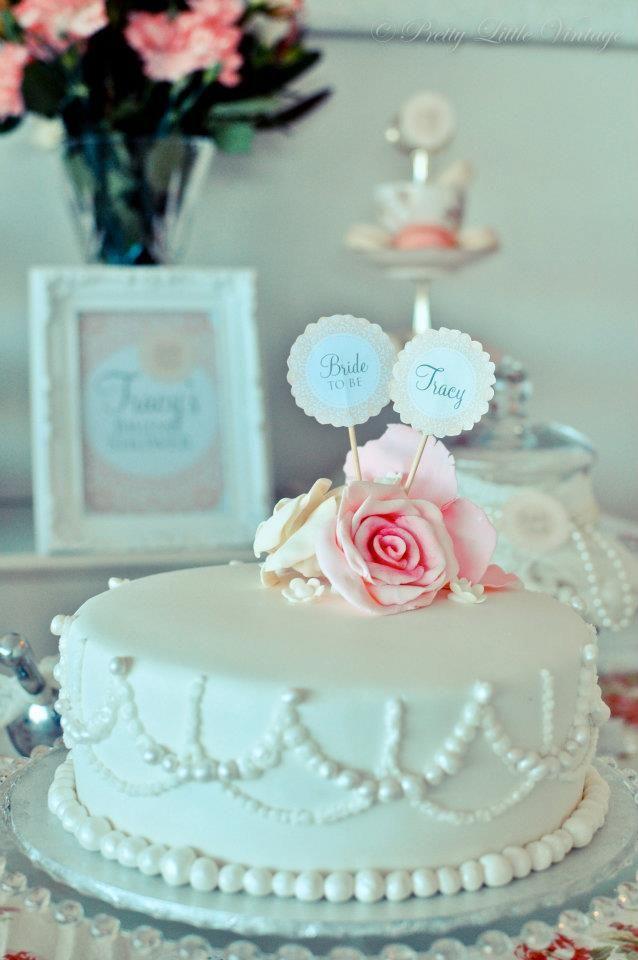 vintage bridal shower on little big company blog