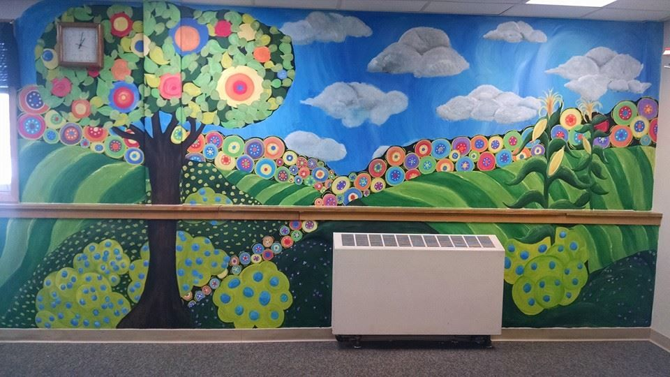 Fun & colorful wall mural!!!