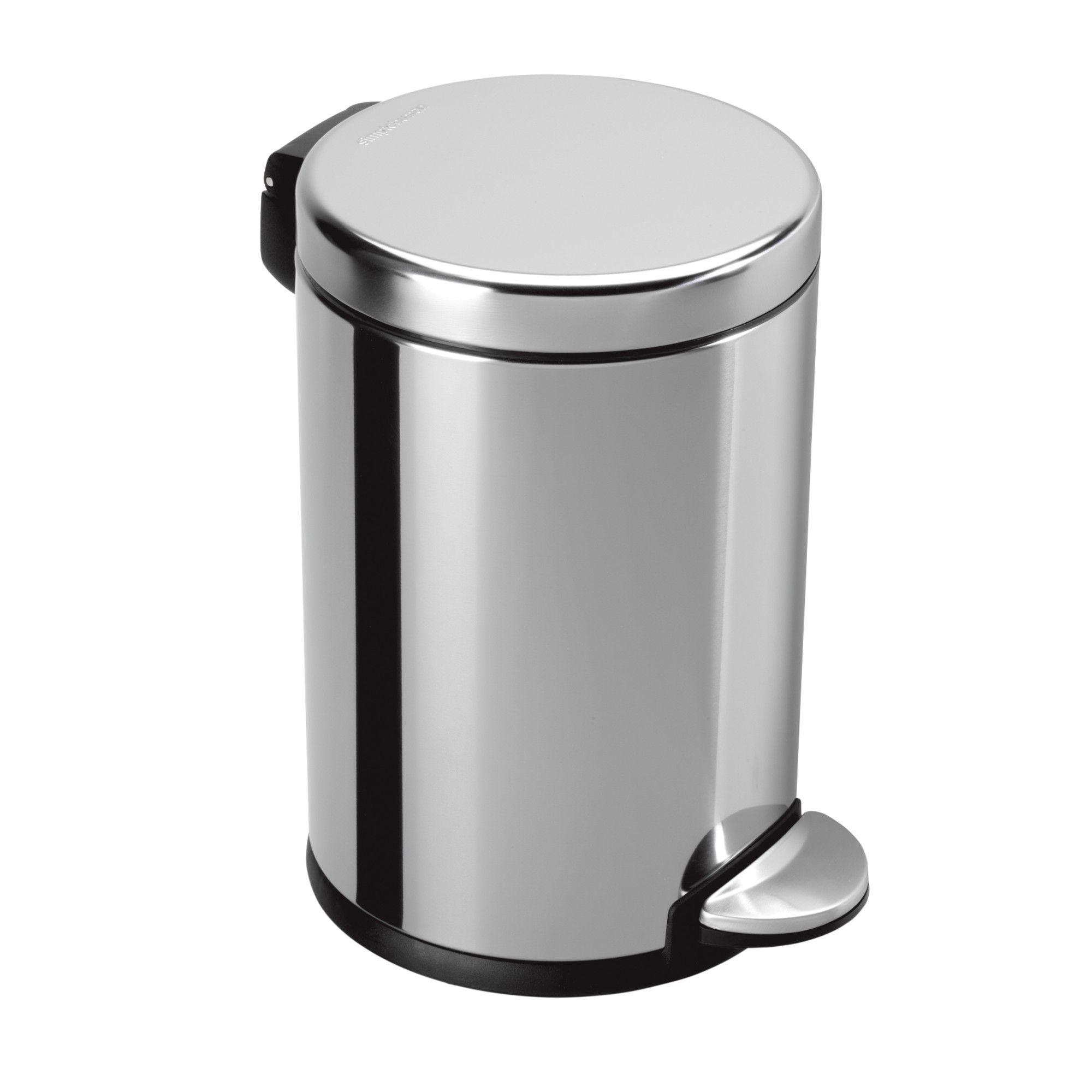 Mini Round Step Trash Can