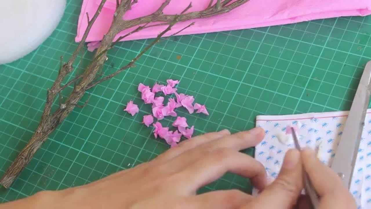 How To Make Miniature Cherry Blossom Tree Blossom Trees Cherry Blossom Tree Cherry Blossom Flowers