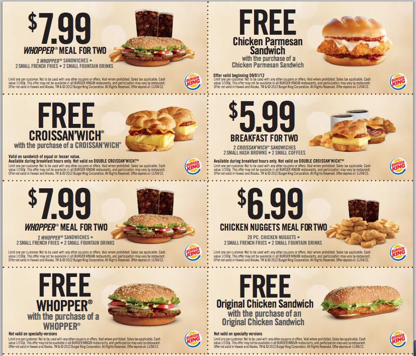 Burger King Coupons Kohl S Coupon Free Food Coupons Kfc Coupons Fast Food Coupons