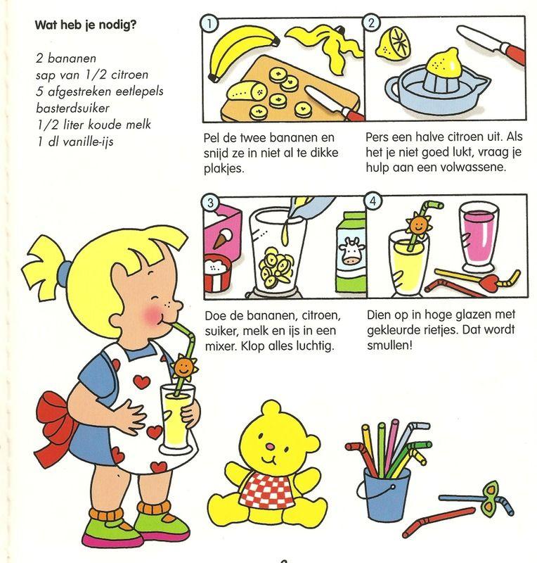 Milkshake maken. | Koken met kinderen, Koken voor kinderen, Koken