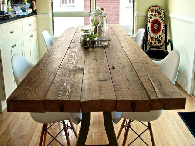Industrial-Reclaimed-Wood-Dining-Room-Table.jpg   Huis/garage ...