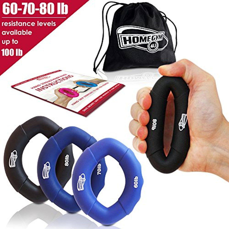 100lbs Hand Grip Strengthener Rings Strength Trainer for Finger Forearm Exercise