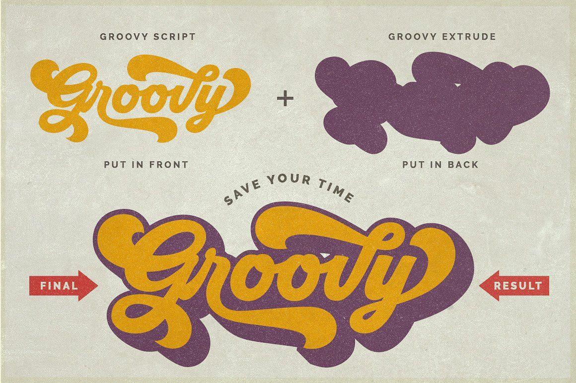 Groovy Retro Font By Hendra Pratama On Creativemarket Retro Font Groovy Font Retro Typography Design