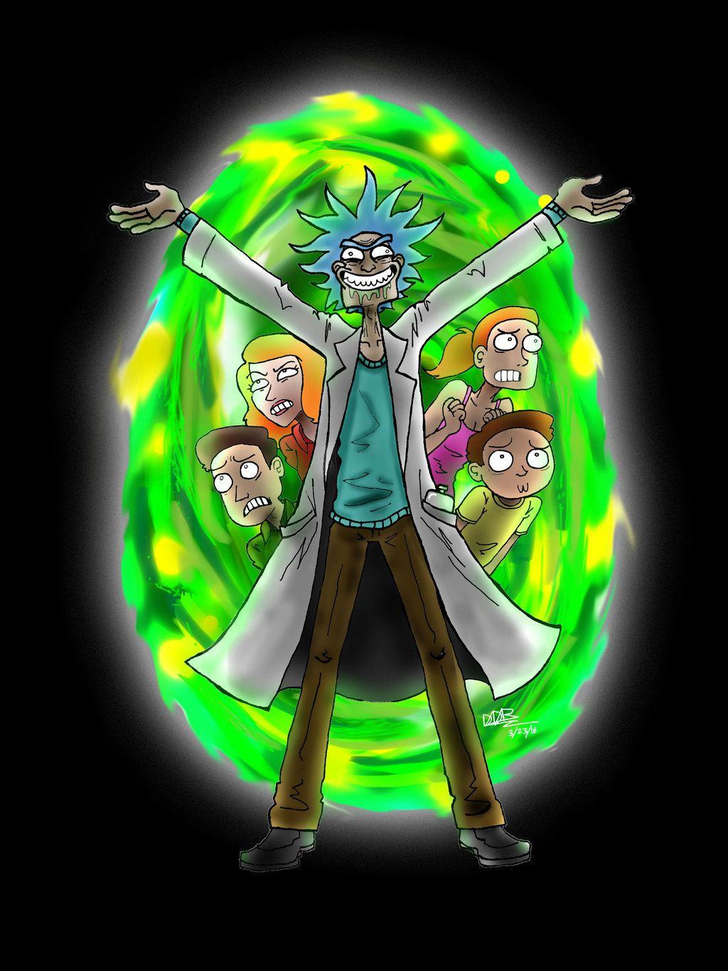 Rick And Morty Family Portal Wallpaper Rick And Morty
