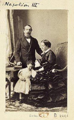 Napoléon III avec sa famille