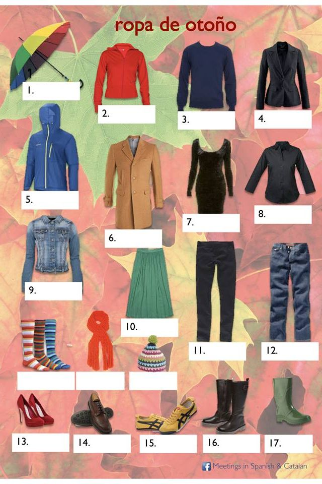La Ropa Spanish Clothing Spanish Outfits Spanish Learning Activities