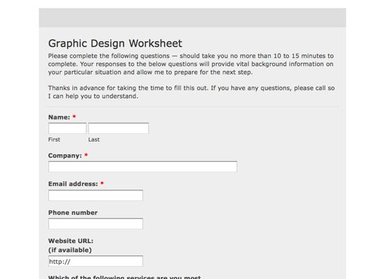 Web Design Questionnaire By Egotype On Envato Elements Web Design Questionnaire Design Templates