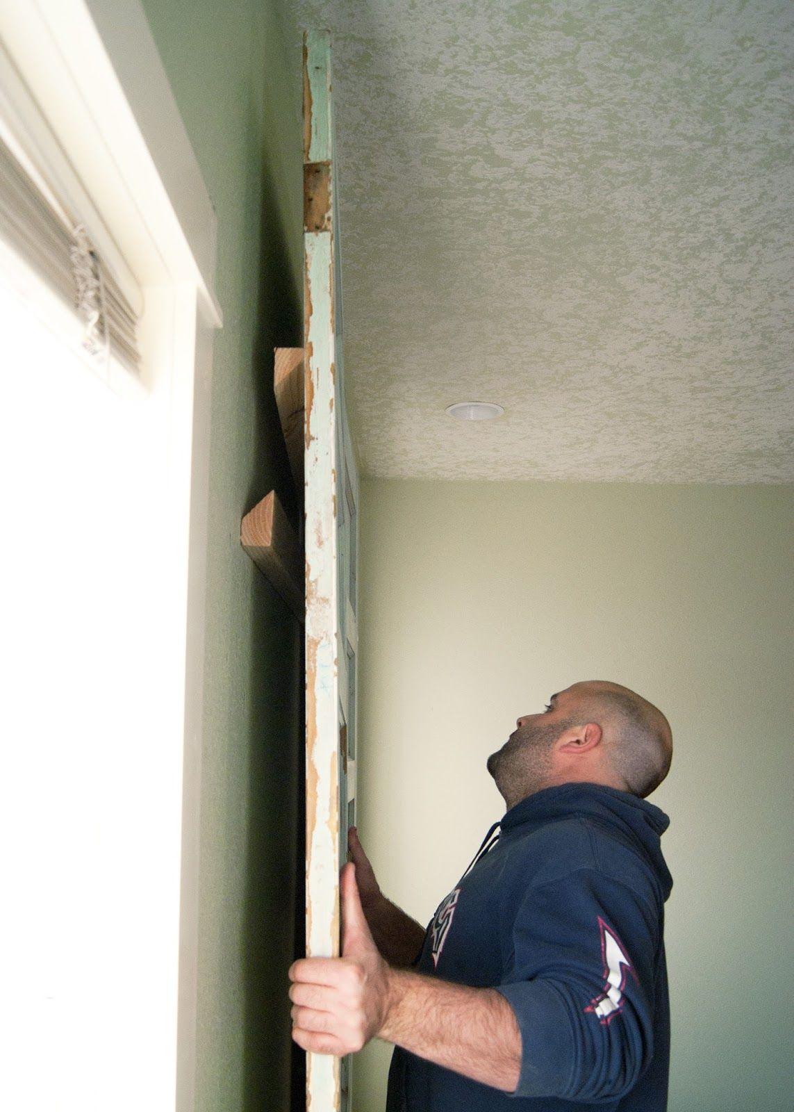 Diy Platform Bed Amp Salvaged Door Headboard Part Two