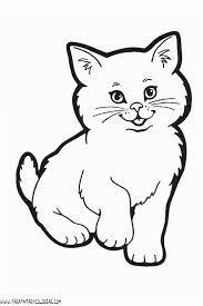 Resultado De Imagen Para Dibujos De Gatos A Lapiz Faciles Gatito Para Colorear Dibujos De Animales Sencillos Dibujos De Gatos