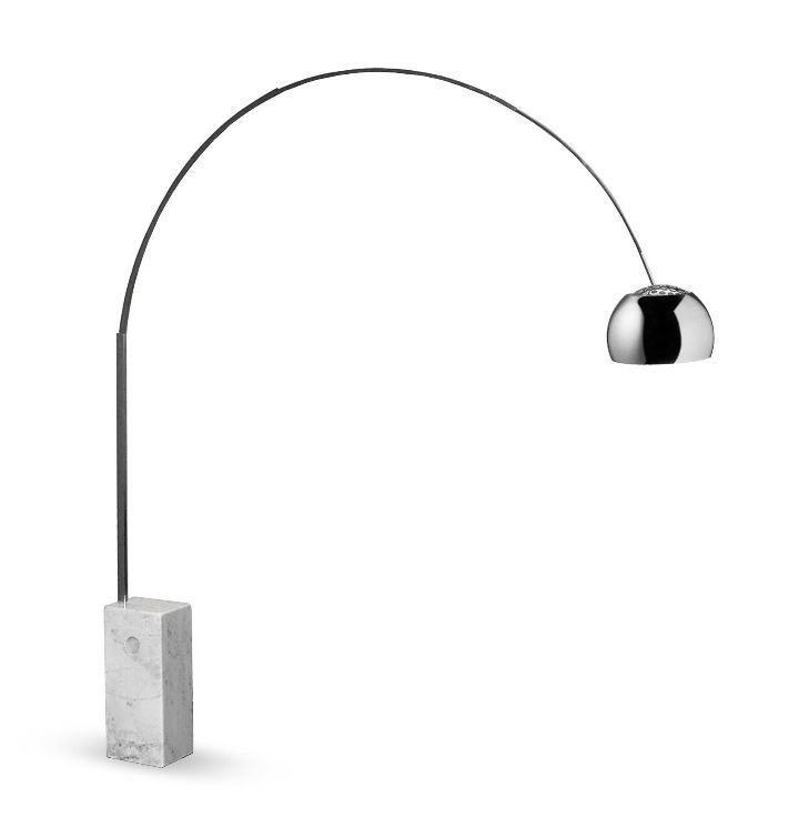 Achille castiglioni arco lamp italian marble living for Castiglioni light