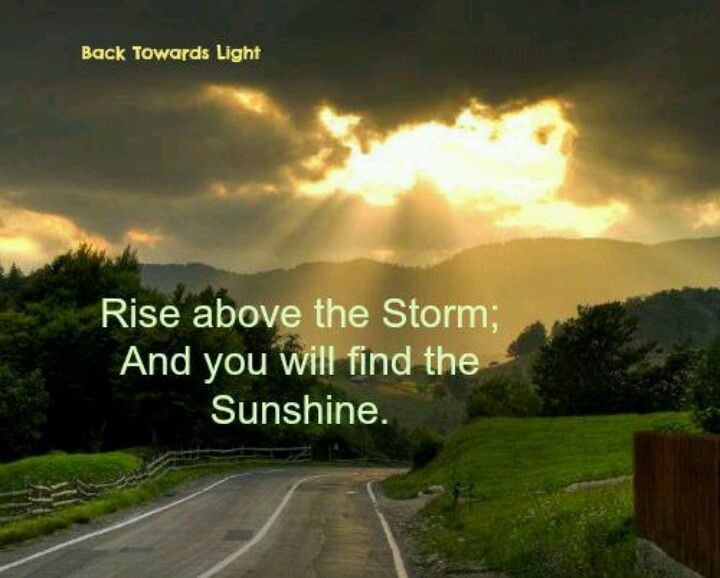 Rise Above The Storm Inspiration Wisdom Quotes Funnies