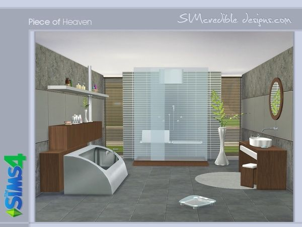 Piece Of Heaven Bathroom By SIMcredible! At TSR U2022 Sims 4 Updates
