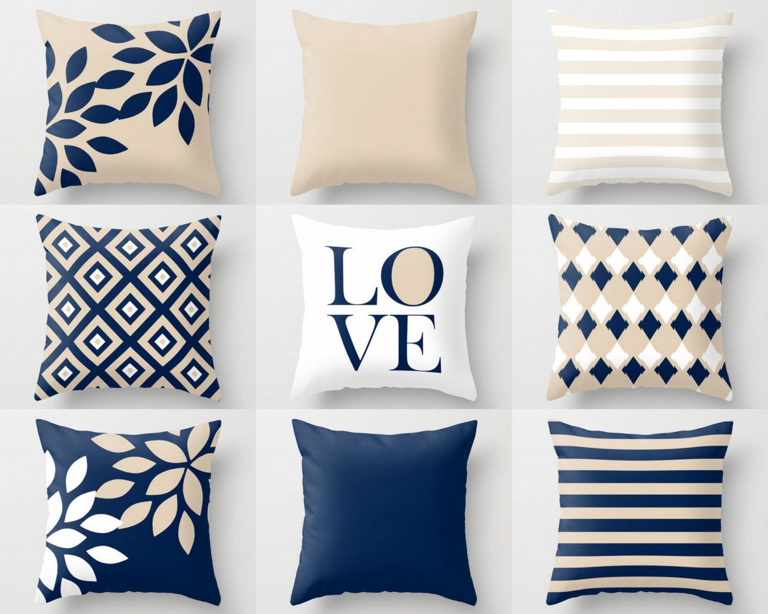 Navy Throw Pillows Pillow Covers Cushion Cover Home Decor Mix And Match Navy Beige Whi Navy Throw Pillows Throw Pillow Cover Navy White Decorative Pillows