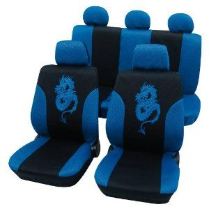 Eco Class Dragon Seat Cover Covers Blue Black Design Car Amazoncouk Motorbike