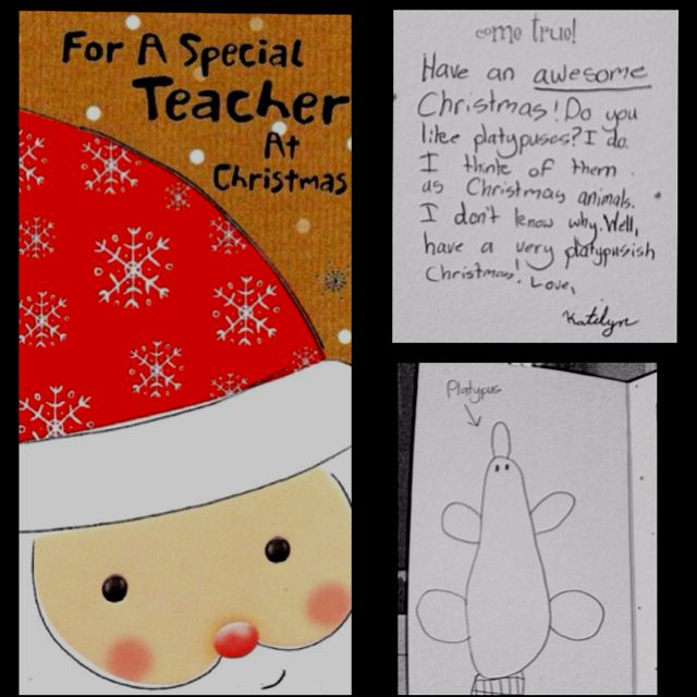 one of my most unique christmas cards as a teacher