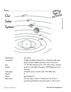 our solar system cutouts 1st grade science pinterest solar