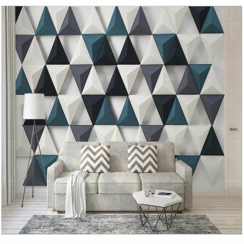 Modern Simple 3d Stereo Triangle Home Improvement Decoration 3d Modern Wallpaper For Walls Background Wall Painting Mural Modern Wallpaper For Walls Modern Wall Modern Wallpaper Modern Wallpaper Designs Wall Painting Living Room