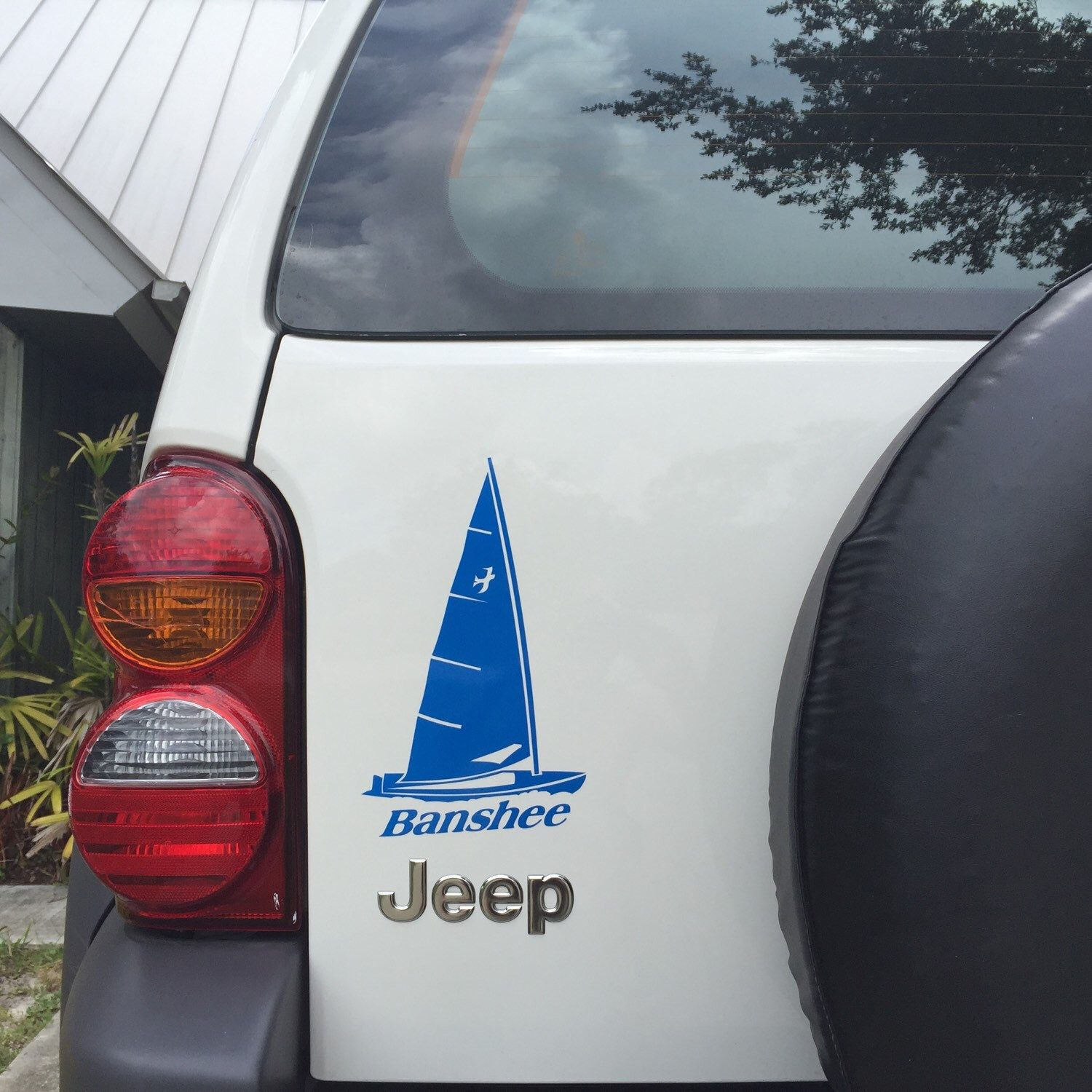 Sailboat Banshee Decal Dingy Sunfish Laser Sail Boat Sticker FREE - Boat stickers and decals