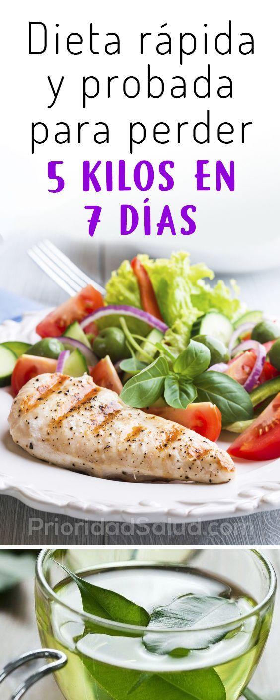 Dieta Rapida Eficaz Y Probada Para Perder 5 Kilos En 7 Dias Dietas Rapidas Dieta Sin Grasas Comidas Saludables Adelgazar