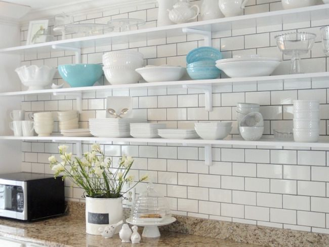 White Subway Tile For Kitchen Backsplash Maybe Too Busy W